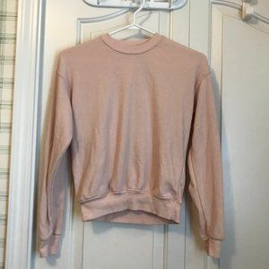 Brandy Melville Soft Baby Pink Cropped Sweater
